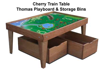 Train Table Furniture Grade Solid Cherry Hardwood Tables